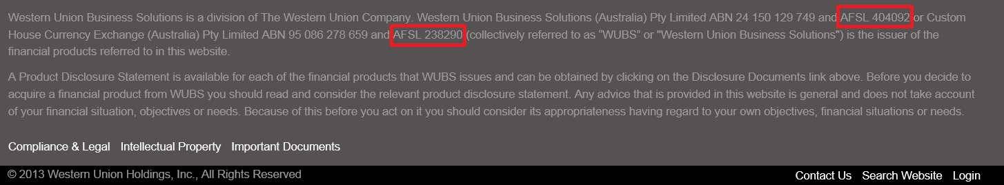 Source: Http://business.westernunion.com.au/about/compliance/