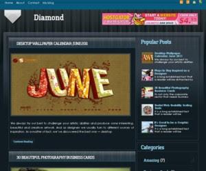 Diamond Blogger Template