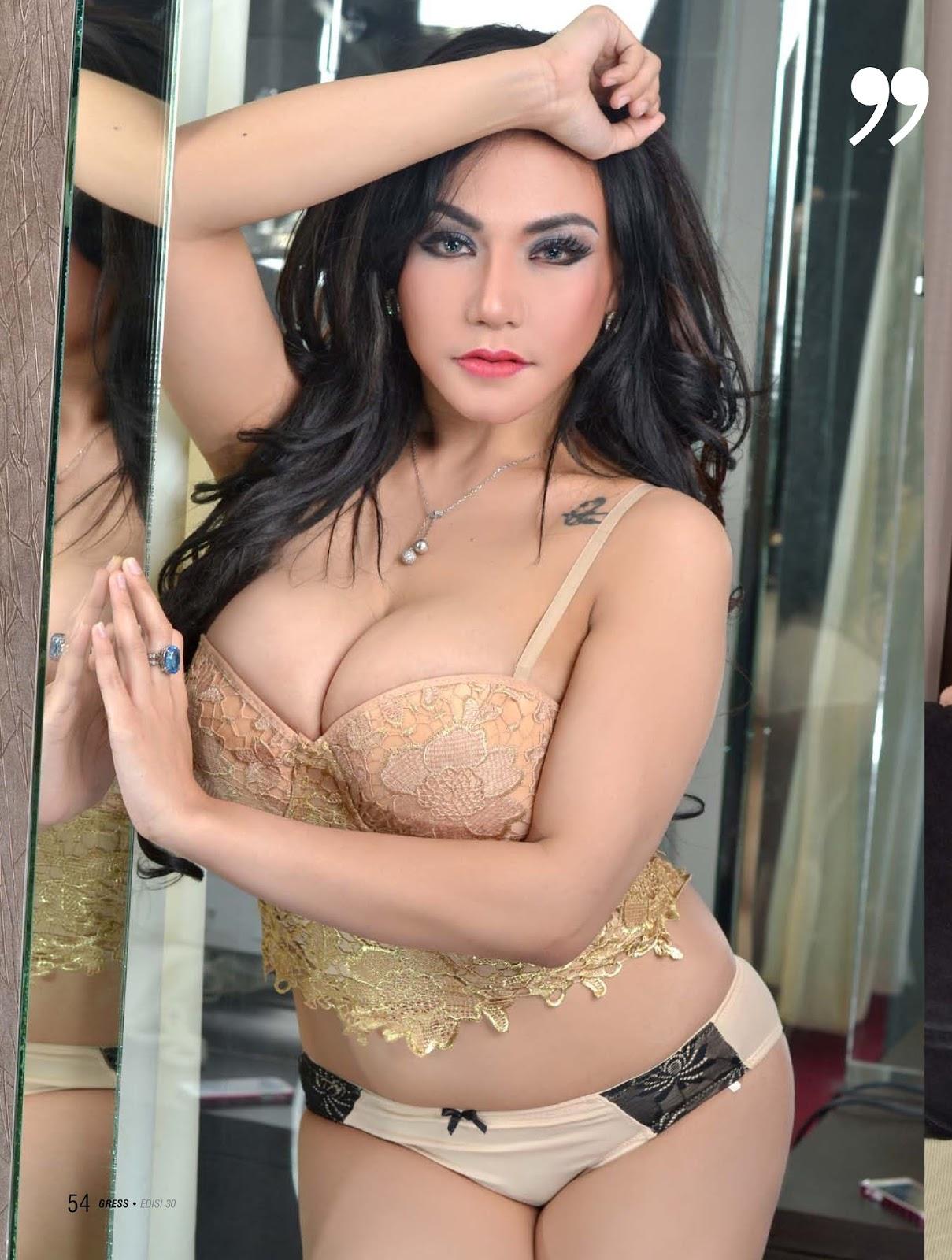 majalah gress n max magazine full foto hot angelica zubir