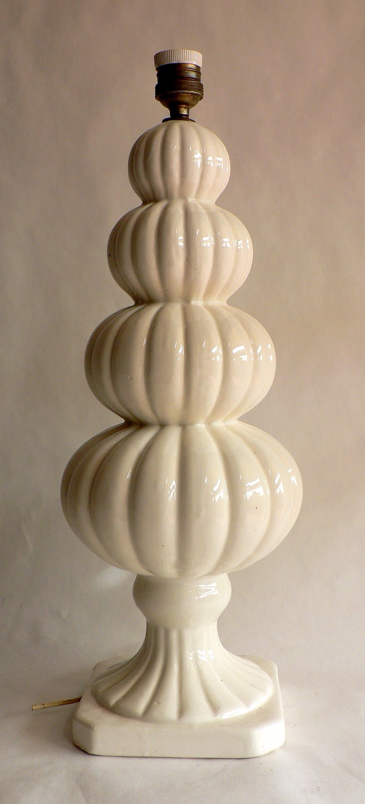 Vintage kitsch siglo xx lampara de ceramica de alcora o - Lamparas de ceramica ...