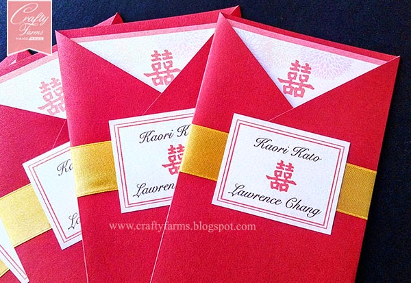 Red and Gold Oriental Chinese Wedding Card Malaysia, Canada, Handmade wedding invitation, kad kahwin
