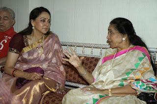 Asha Bhosle, Hema Malini and other at Launching of