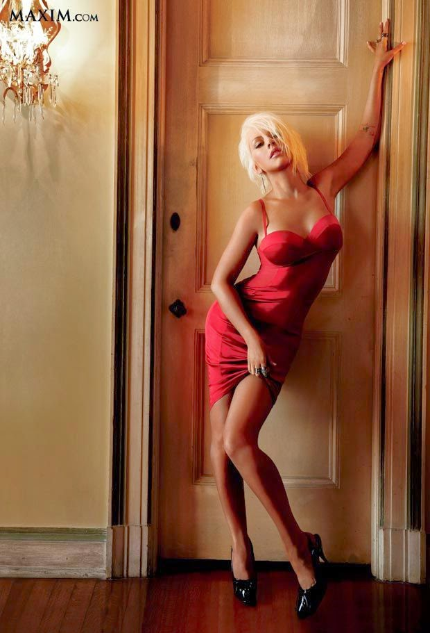 Yes, Christina Aguilera is one of the luckiest lady in the world for 15 slot on the Maxim 2014's Hot 100 list.