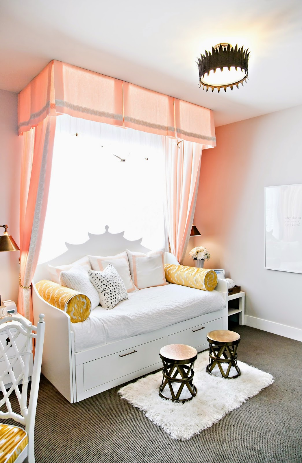 design dump ORC finale a teen bedroom in peach + mustard