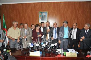 اجتماع وزيرة التربية الوطنية السيدة نورية بن غبريت بنقابات القطاع