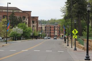 photo of streetscape entering Stillwater