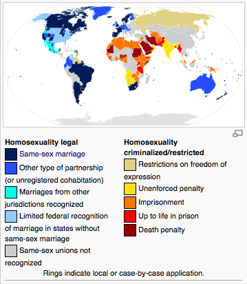 the controversy surrounding the issue of gay marriage The supreme court legalized gay marriage across the entire country in 2015-jun-26, with the exception of the territory of american samoa status of marriage equality as of 2017-dec-08: the following 27 countries have legalized marriage by same-sex couples in order by year, they were: 2001: the netherlands 2001: belgium 2005: canada and spain.