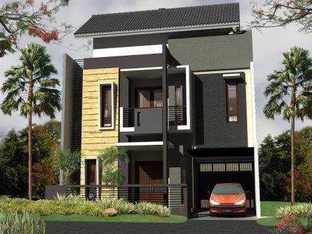 desain rumah minimalis modern tipe 36 dengan 2 lantai