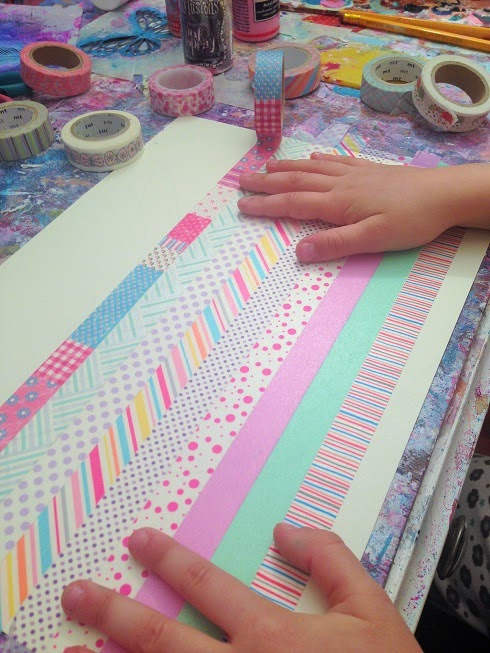 decorazione con washi tapes