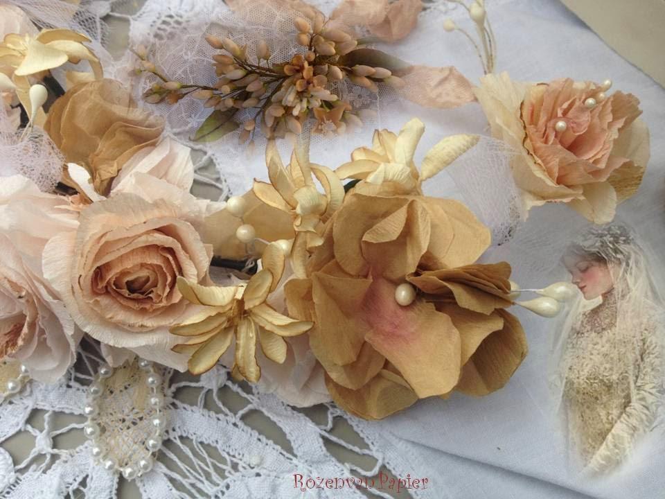 roses pour toujours couronne de mariage demoiselle d 39 honneur ou communion. Black Bedroom Furniture Sets. Home Design Ideas