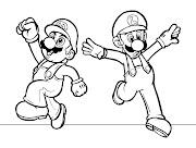 Mario y Luigi para dibujar pintar colorear imprimir recortar y pegar