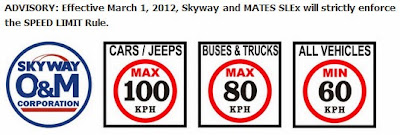 Skyway Speed Limit