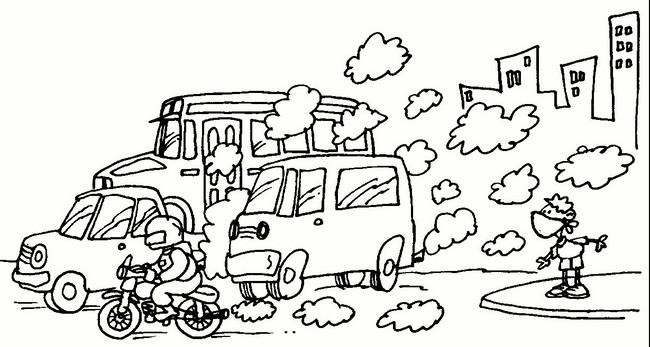Dibujos para colorear del medio ambiente contaminado - Imagui