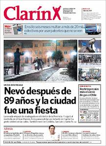 """tapas de los diarios históricos """"Nieve en Buenos Aires"""""""