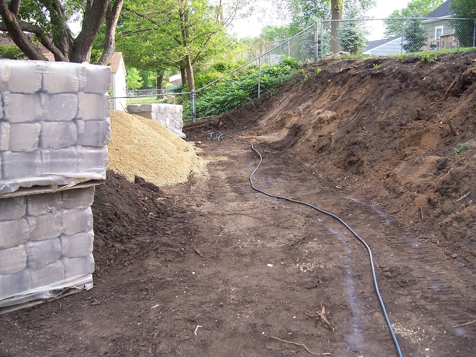 The Allan Block Blog Building a Retaining Wall Excavating and