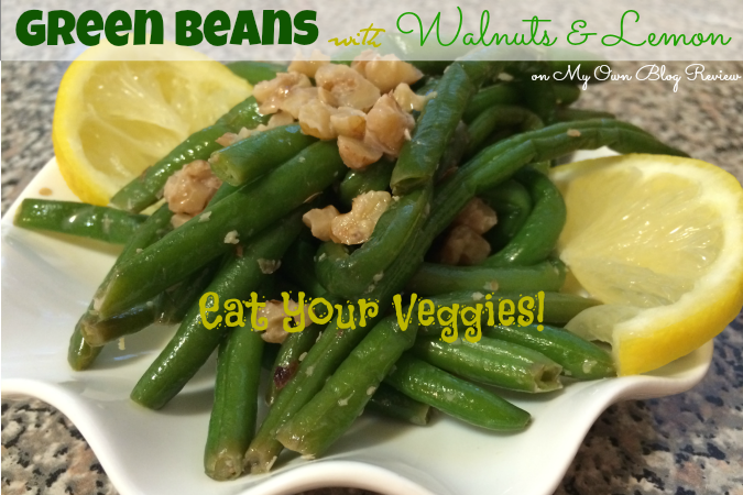 The variety of dishes you can make from one vegetable is amazing! I these green beans, with the hint of lemon, the added ginger and crunch of walnuts sounds amazing!