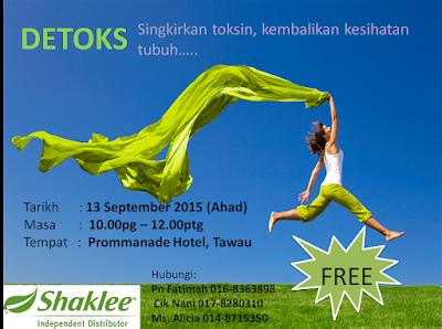Bahaya toksin berlebihan pada tubuh badan; Shaklee detox; migrain; kulit berjerawat; Shaklee Tawau