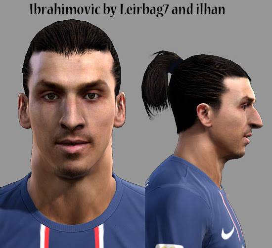 PES 2013 Ibrahimovic Face by Leirbag7 and ilhan