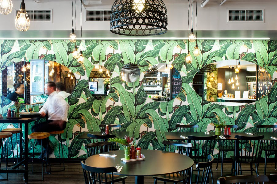 Restaurant Kitchen Wallpaper tropical wallpaper love – kitchy world