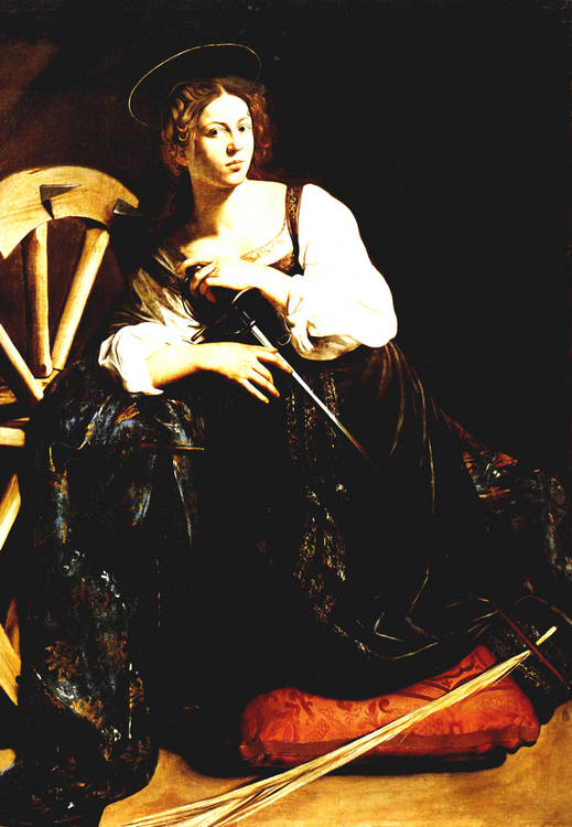 caravage catherine alexandrie painting