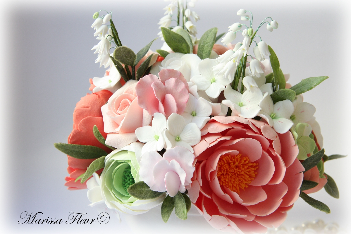A touch of beauty flowers for the best friend centerpiece with flowers for the best friend centerpiece with lily of the valley sweet peas peonies roses and hydrangea izmirmasajfo