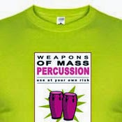 Weapons of mass percussion - Tienda de camisetas de percusión