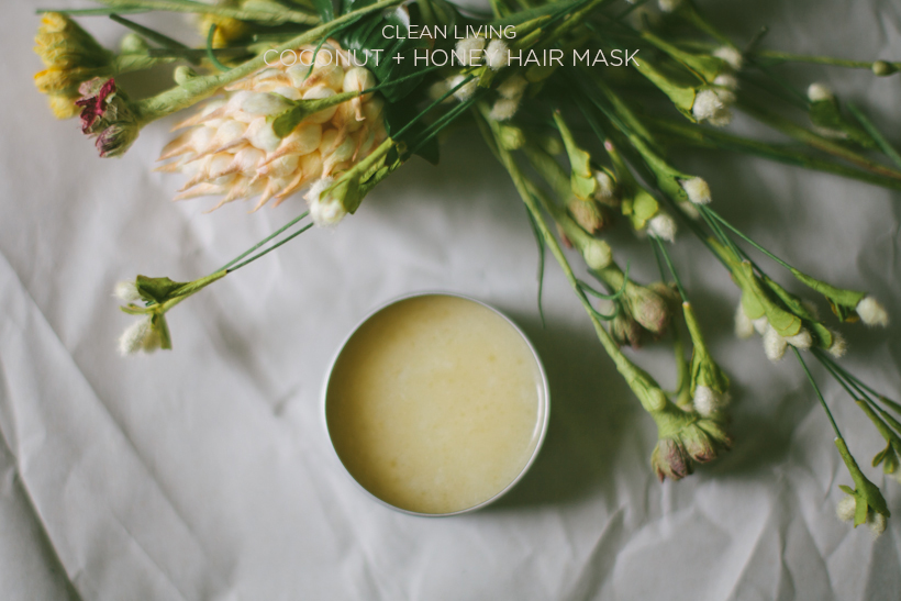 how to make a coconut oil and honey hair mask