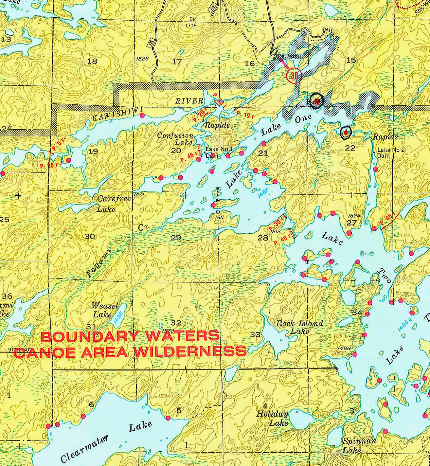 Piragis Northwoods Company Boundary Waters Blog Two New Campsites - Bwca entry point map