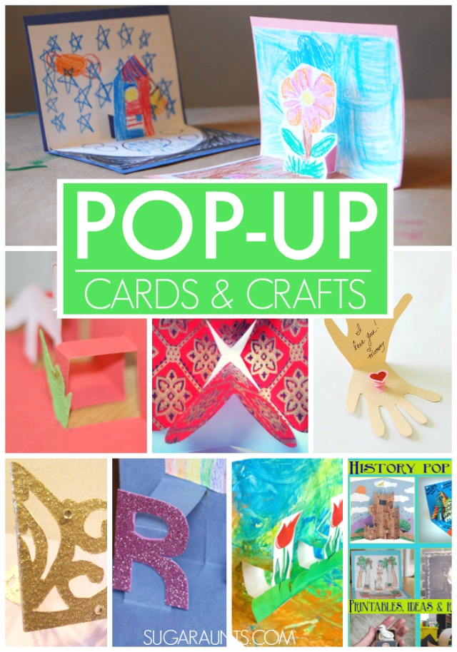 These crafts and card ideas for pop-ups are a cute way to celebrate Mother's Day, Easter, and Spring with kid-made crafts and cards!