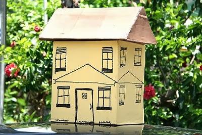 Manos a la obra como hacer una casa de cart n - Como hacer una casa de carton pequena ...