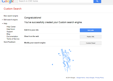 Image: How to setup Google Custom Search Engine step 3