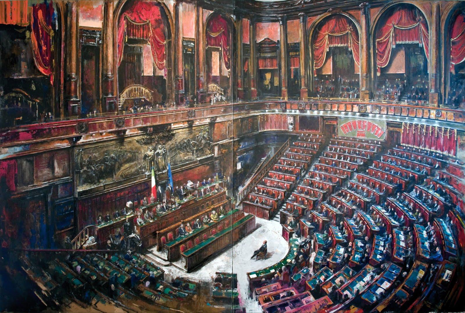 Dipinti di francesco santosuosso parlamento dipinto for Votazioni parlamento oggi