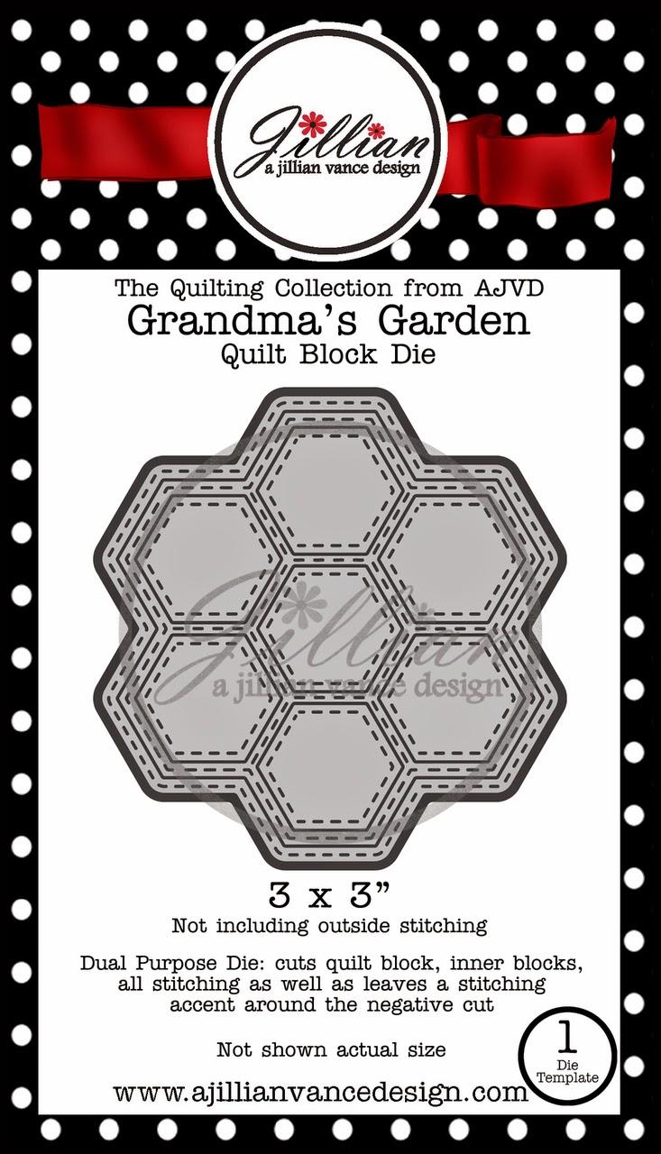 Grandmas's Garden Quilt Block Die by A Jillian Vance Design