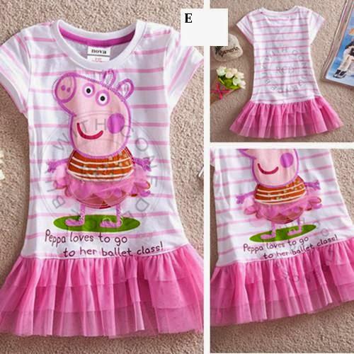 5e1973f0f59 Vestidos Peppa pig infantil menina escolha o modelo FRETE GRATIS!! R 45
