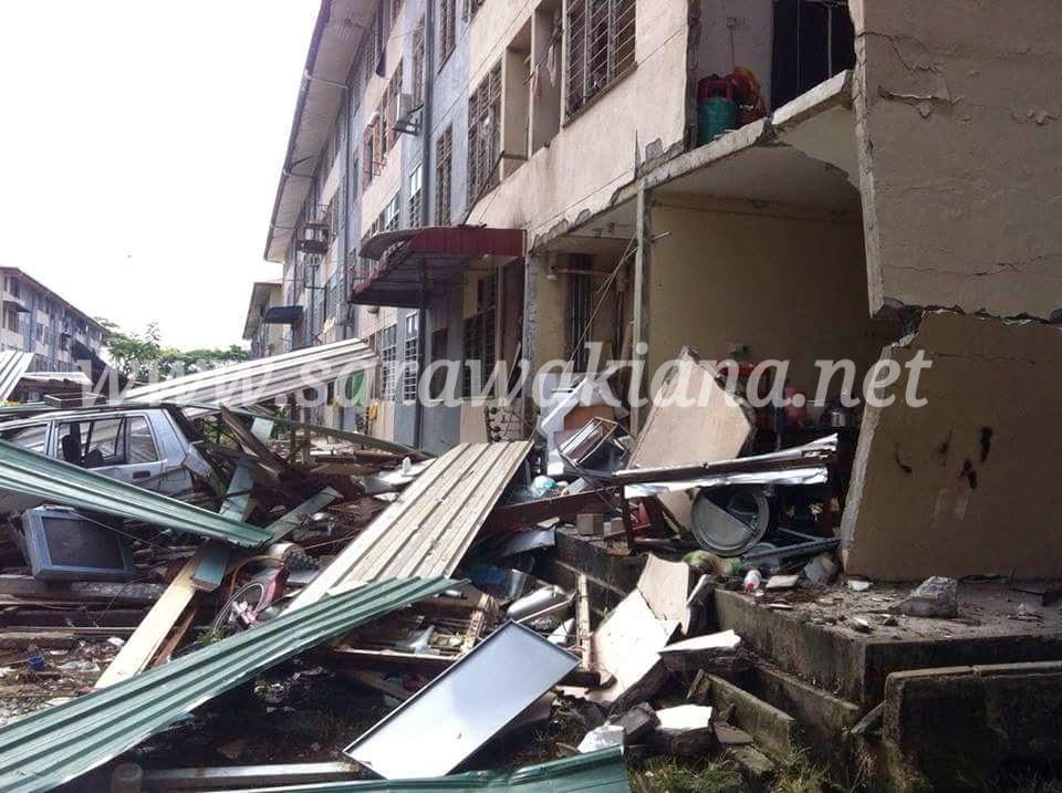 11 Cedera Kejadian Letupan Di Sibu
