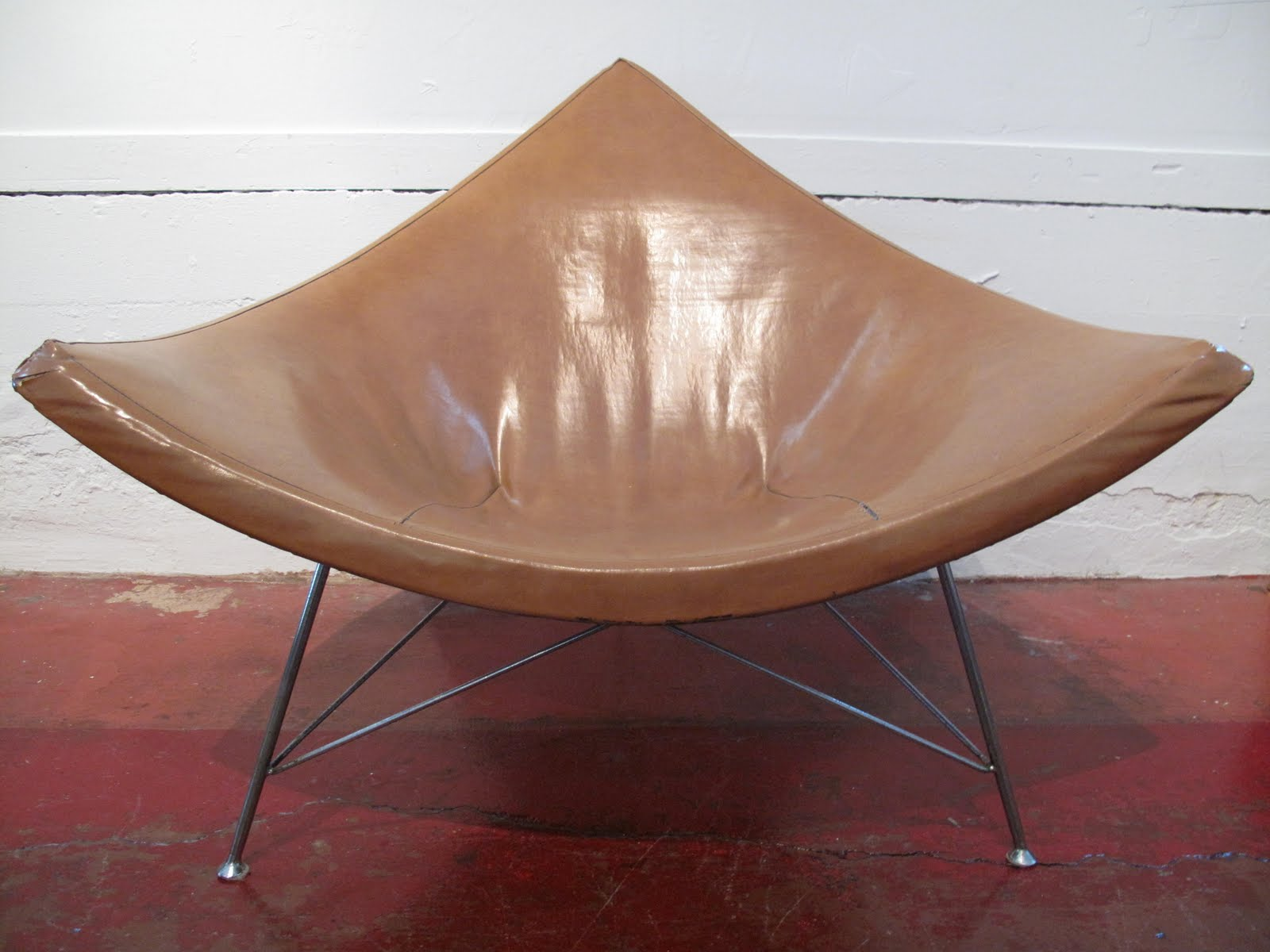 Just in modern george nelson 1st production coconut chair herman