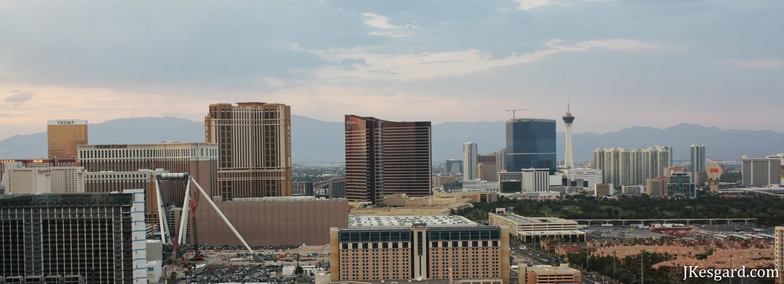 las Vegas from the east during July 2013 wildfires