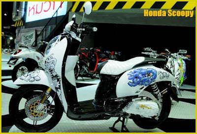 Modifikasi Honda Scoopy Thailand racing
