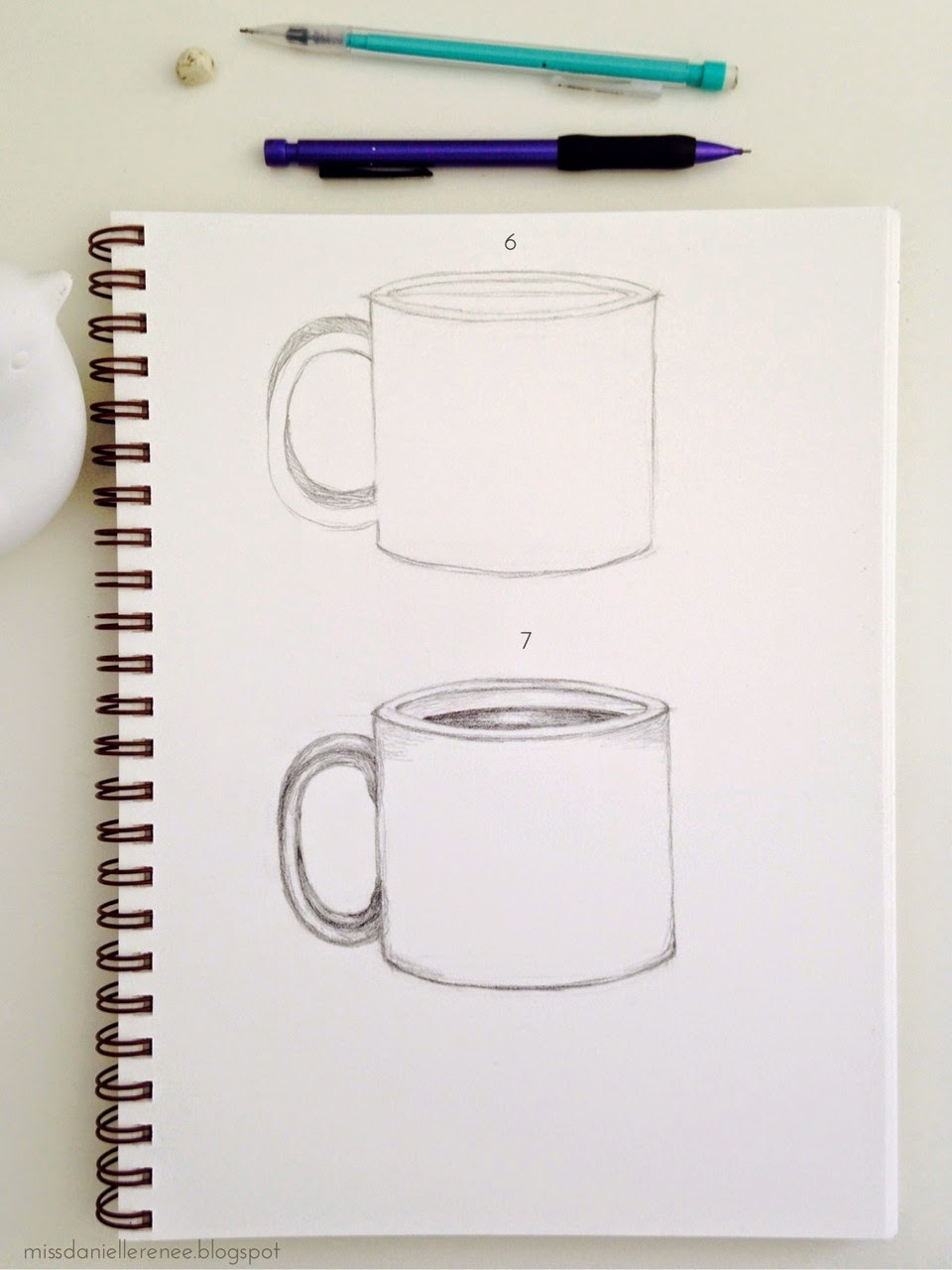How to Draw a Coffee Mug step by step