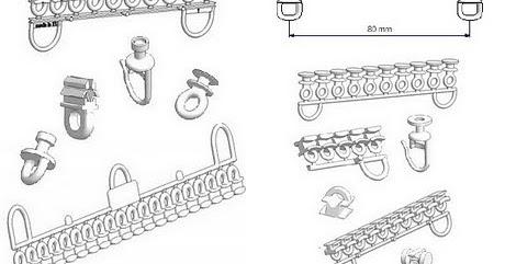 zubeh rteile f r vorh nge und raffrollos gleiter und rollen. Black Bedroom Furniture Sets. Home Design Ideas