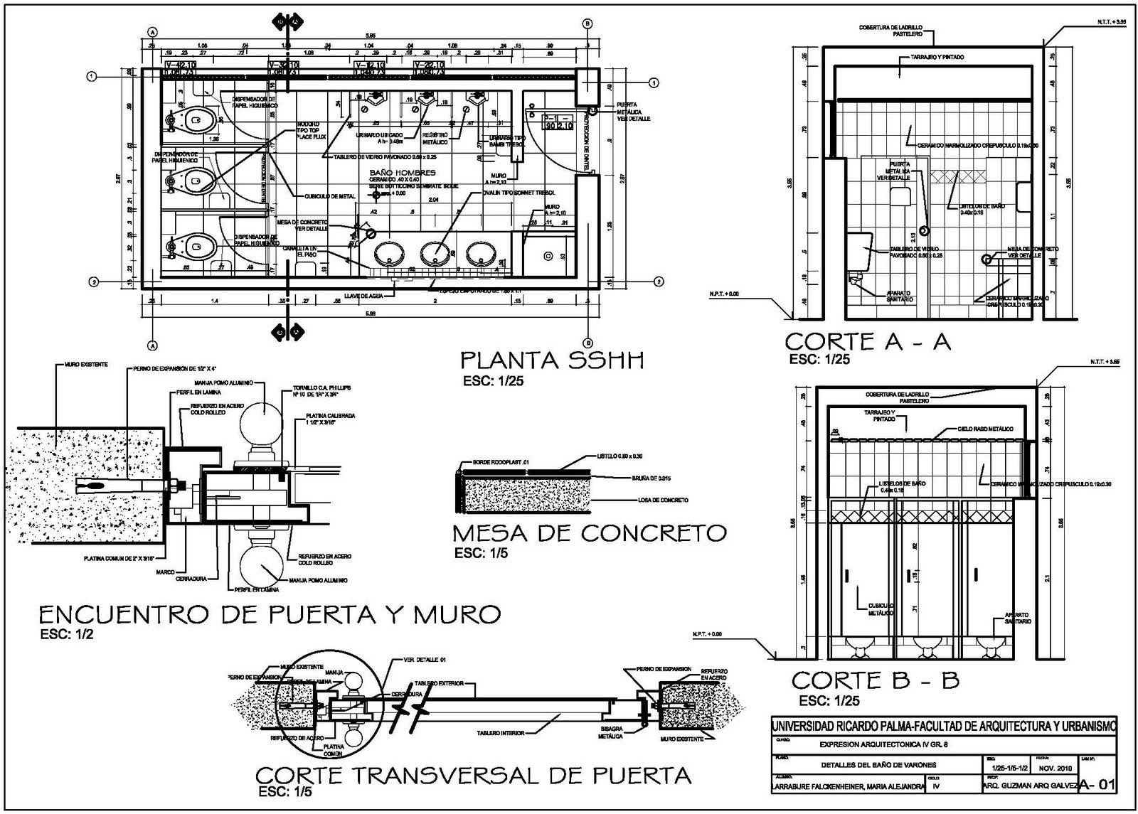 expresi n arquitect nica 4 planos de detalles arquitectonicos