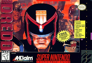 Jugde Dredd snes rom game cover art