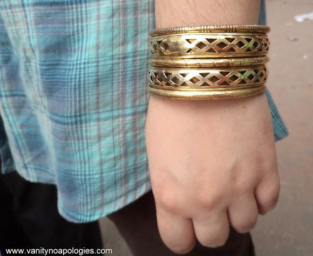 metallic bangles
