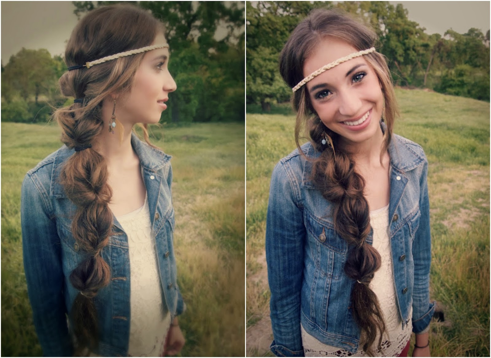 A lifetime of rain hair tutorial boho braid the final touch is to pull the hair on the sides of each section to give volume and a messy boho look as in step 7 baditri Choice Image