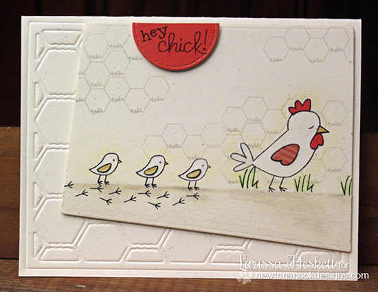 Chicken card by Larissa Heskett for Newton's Nook Designs | Chicken Scratches Stamp