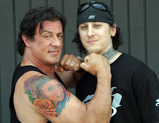 Tatuagem do Sylvester Stallone