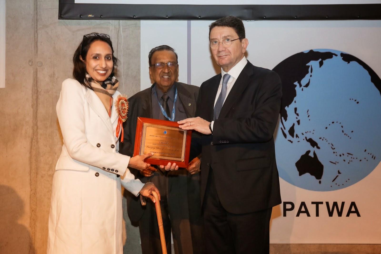 Preview attachment Aditi Balbir receiving the PATWA International Award at ITB Berlin for V Resorts