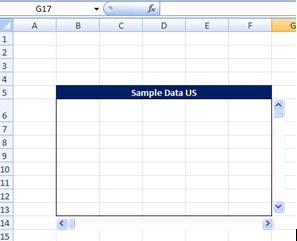 Ms excel vba pacesetter create a scrolling table in excel for Table th no scroll