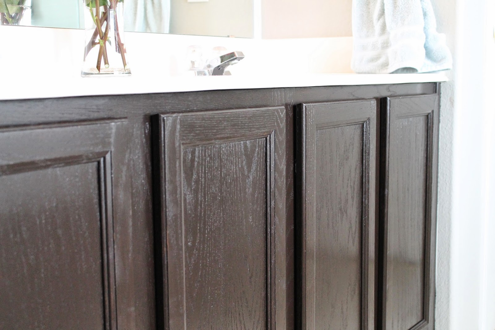 Tucker Up: DIY Stained Cabinets
