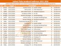Jadwal Semi Final Piala Jenderal Sudirman Hasil Klasemen